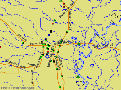Bogalusa, Louisiana environmental map by EPA
