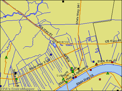 Gramercy, Louisiana environmental map by EPA
