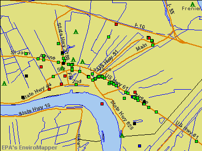Laplace, Louisiana environmental map by EPA