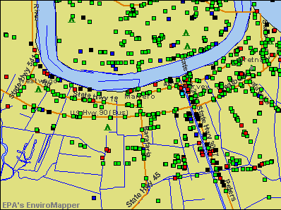 Marrero, Louisiana environmental map by EPA