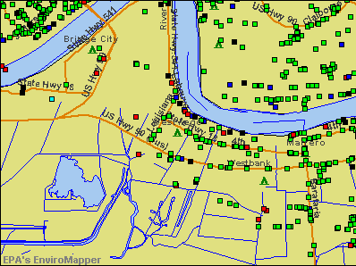 Westwego, Louisiana environmental map by EPA