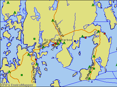 Boothbay Harbor, Maine environmental map by EPA