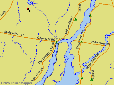 Richmond, Maine environmental map by EPA