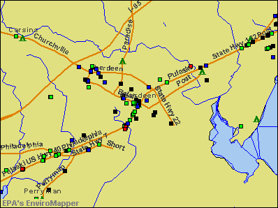 Aberdeen, Maryland environmental map by EPA