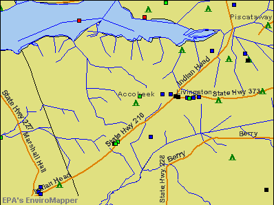 Accokeek, Maryland environmental map by EPA