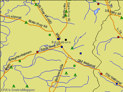 Boonsboro, Maryland environmental map by EPA
