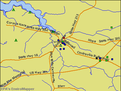 Centreville, Maryland environmental map by EPA