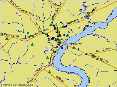 Chestertown, Maryland environmental map by EPA