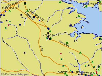 Crownsville, Maryland environmental map by EPA