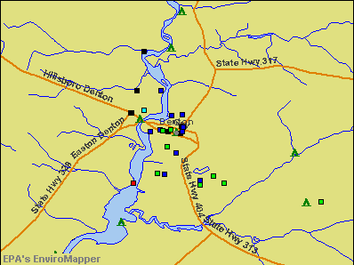 Denton, Maryland environmental map by EPA