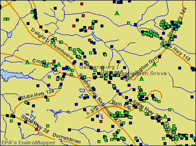 Gaithersburg, Maryland environmental map by EPA