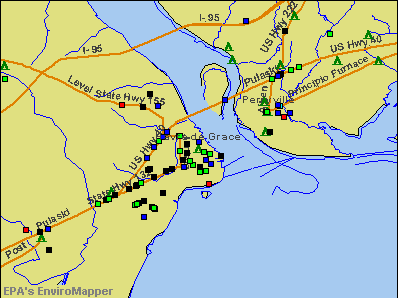 Havre de Grace, Maryland environmental map by EPA