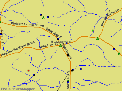 Hughesville, Maryland environmental map by EPA