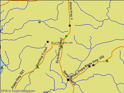 Huntingtown, Maryland environmental map by EPA