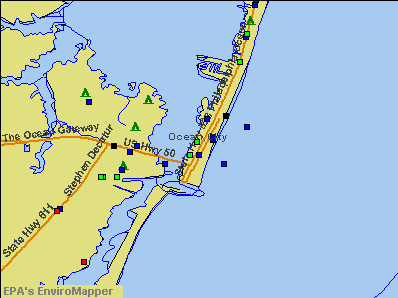 Ocean City, Maryland environmental map by EPA