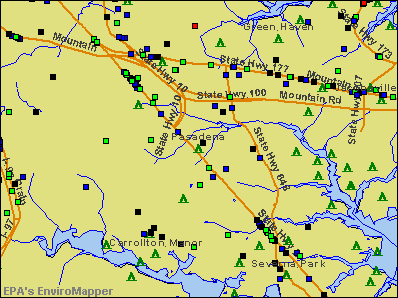 Pasadena, Maryland environmental map by EPA