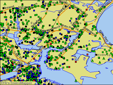 Chelsea, Massachusetts environmental map by EPA