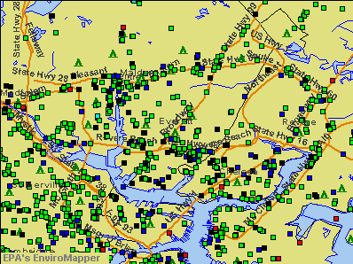 Everett, Massachusetts environmental map by EPA