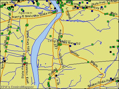 Longmeadow, Massachusetts environmental map by EPA