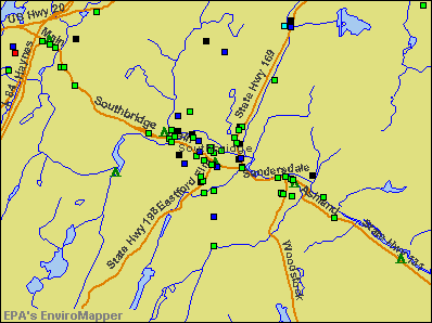 Southbridge, Massachusetts environmental map by EPA
