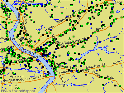 Springfield, Massachusetts environmental map by EPA