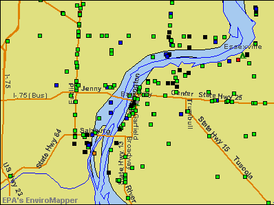 Bay City, Michigan environmental map by EPA