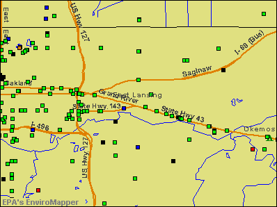 East Lansing, Michigan environmental map by EPA