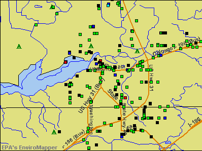 Holland, Michigan environmental map by EPA