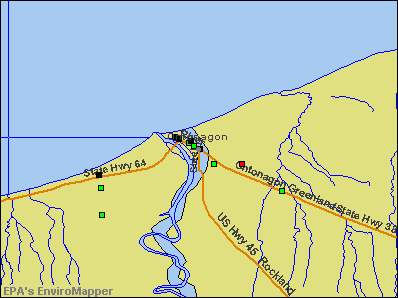 Ontonagon, Michigan environmental map by EPA
