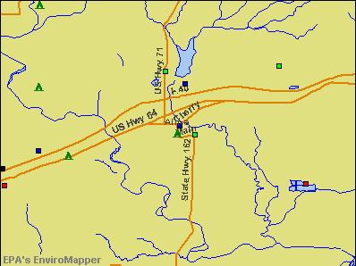 Alma, Arkansas environmental map by EPA