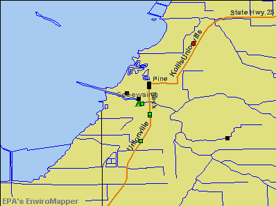 Sebewaing, Michigan environmental map by EPA