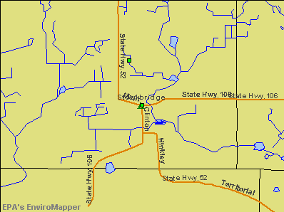 Stockbridge, Michigan environmental map by EPA