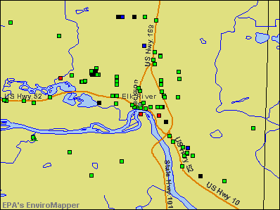 Elk River, Minnesota environmental map by EPA