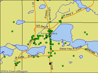 Forest Lake, Minnesota environmental map by EPA