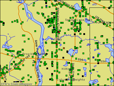 Fridley, Minnesota environmental map by EPA