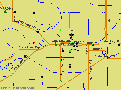 Blytheville, Arkansas environmental map by EPA
