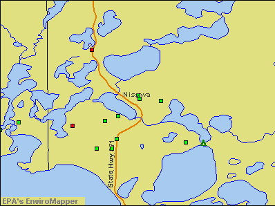 Nisswa, Minnesota environmental map by EPA