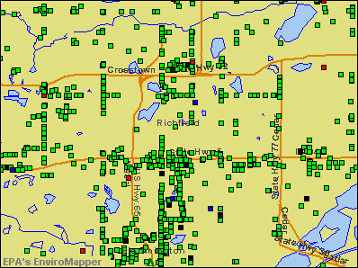 Richfield, Minnesota environmental map by EPA