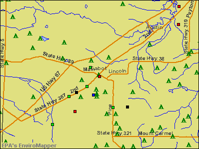 Cabot, Arkansas environmental map by EPA