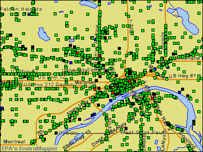 St. Paul, Minnesota environmental map by EPA