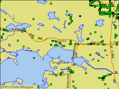 Wayzata, Minnesota environmental map by EPA