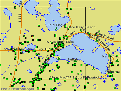 White Bear Lake, Minnesota environmental map by EPA