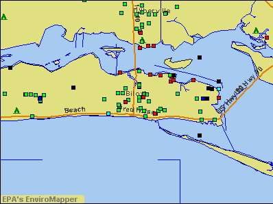 Biloxi, Mississippi environmental map by EPA