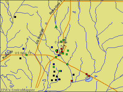 Corinth, Mississippi environmental map by EPA