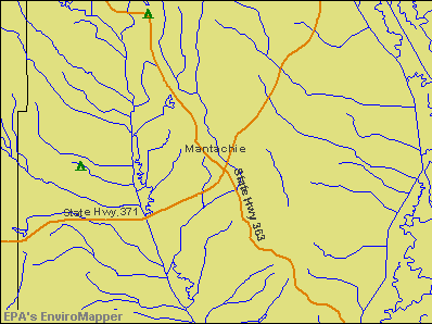 Mantachie, Mississippi environmental map by EPA