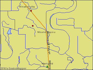 Mound Bayou, Mississippi environmental map by EPA