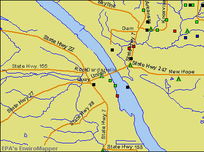 Dardanelle, Arkansas environmental map by EPA