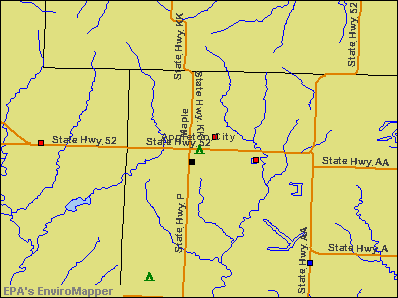 Appleton City, Missouri environmental map by EPA