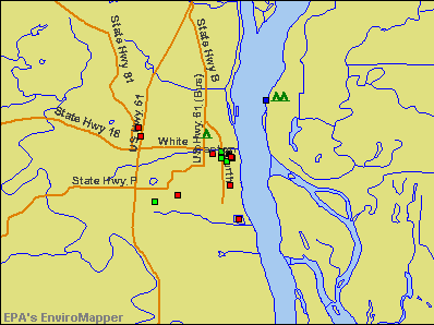 Canton, Missouri environmental map by EPA