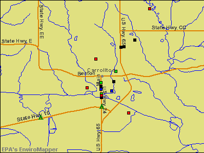 Carrollton, Missouri environmental map by EPA